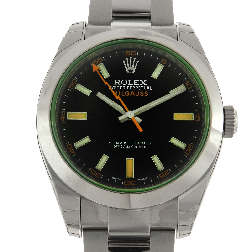 6c503964dd0 Relógio Rolex Oyster Perpetual Milgauss – Referencia 116400GV – Green – Melhores  Lotes